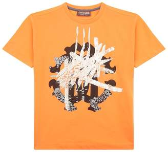 Roberto Cavalli Graffiti Logo Printed T-Shirt