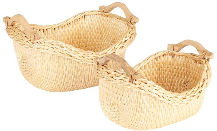 2-piece Cobblestone Basket Set