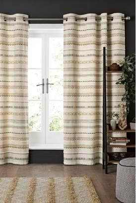 Next Ethnic Stripe Eyelet Curtains