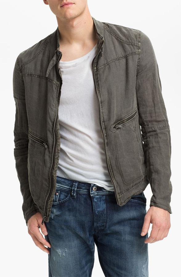 Rogue Linen Moto Jacket
