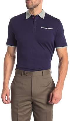 English Laundry Colorblock Cotton Polo Shirt