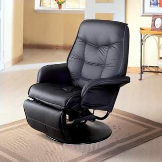 Coaster Company Black Leatherette Swivel Recliner