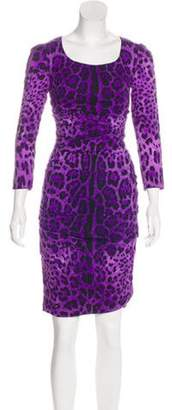 Dolce & Gabbana Silk Printed Dress Violet Silk Printed Dress