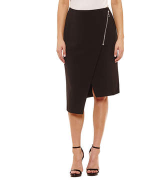 Bold Elements Sexy Stretch Asymmetrical Pencil Skirt