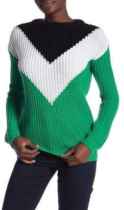 Love by Design Double Chevron Knit Sweater