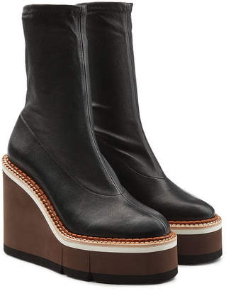 Rob-ert Robert Clergerie Britt Leather Platform Boots