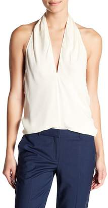 Theory Etril Classic Silk Georgette Halter Top