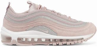 Nike Air Max 97 Glittered Leather And Suede Sneakers - Pastel pink