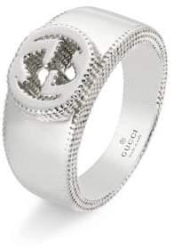 Gucci Sterling Silver Interlocking G Band Ring