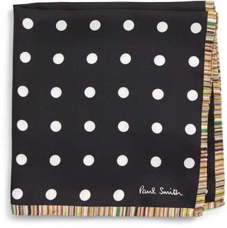 Paul Smith Multistripe Dot Silk Pocket Square