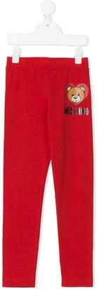 Moschino Kids TEEN teddy bear print leggings