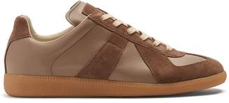 Maison Margiela Replica suede-panel low-top leather trainers