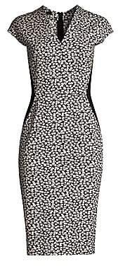 Escada Women's Delivia Daisy Jersey Sheath Dress