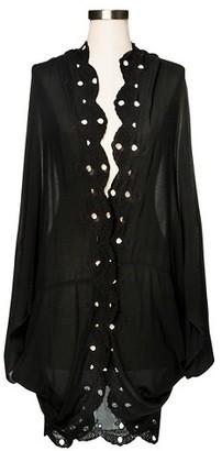 Merona Women's Embroidered Cocoon Kimono Jacket Black - Merona $29.99 thestylecure.com