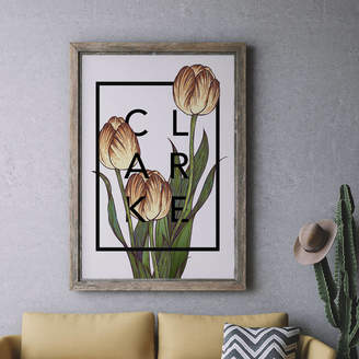The Print Florist Personalised Tulips Botanical Flower Print