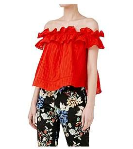 Nicholas Cotton Voile Sofia Ruffle Top