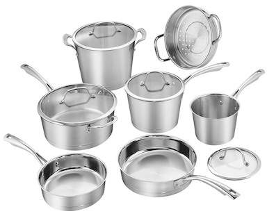 Cuisinart Stainless Steel Conical Hard Anodized Induction 11-Piece Cookware Set