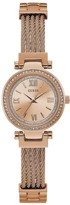 GUESS Women's Rose Gold-T Classic Petite Watch