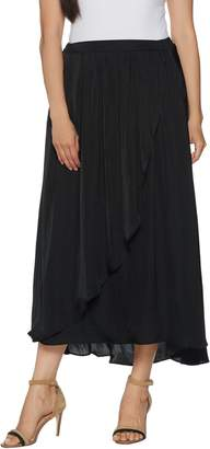 Lisa Rinna Collection Crinkle Charmeuse Maxi Skirt
