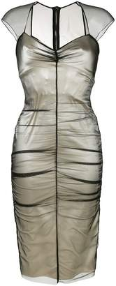 Tom Ford layered fitted dress