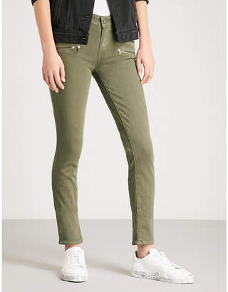 Paige Edgemont zip-embellished skinny high-rise jeans