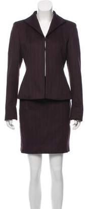 Akris Angora-Blend Skirt Suit Plum Angora-Blend Skirt Suit