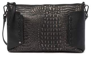 Kooba Copland Croc Embossed Leather Crossbody Clutch