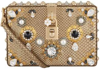 Dolce & Gabbana Embellished Python Box Bag
