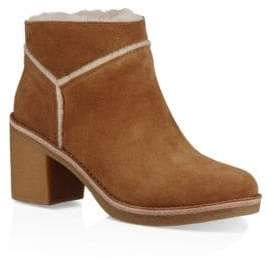 UGG Kasen Block Heel Dyed Shearling Booties