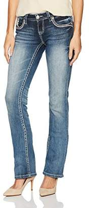 Grace in LA Women's Embellished Bootcut Jeans