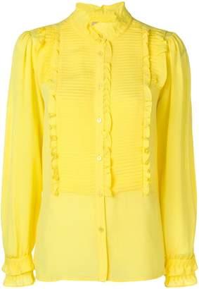 Twin-Set pleated bib blouse