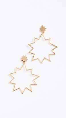 Rebecca Minkoff Pow Stud & Frame Earrings