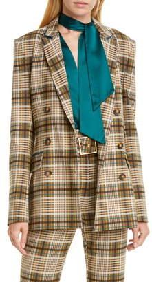 Jonathan Simkhai Double Breasted Plaid Jacket