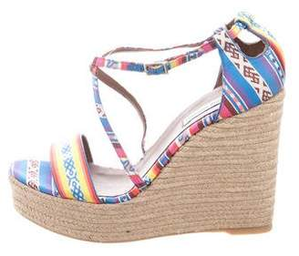 Tabitha Simmons Printed Woven Wedges