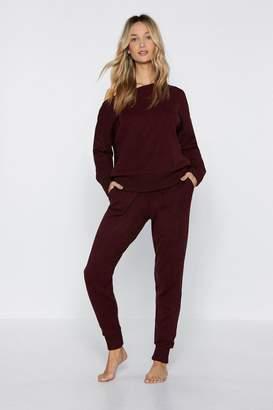Nasty Gal Power Nap Sweater and Jogger Pants Set