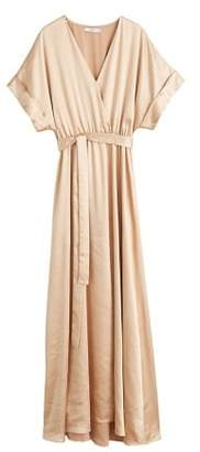 MANGO Satin tie dress