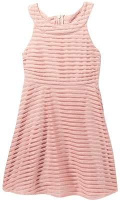 Blush by Us Angels Shadow Stripe Skater Dress (Big Girls)