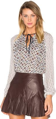 DEREK LAM 10 CROSBY Peplum Tie Blouse $395 thestylecure.com