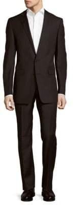 Calvin Klein Pinstripe Wool Suit