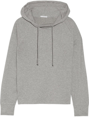 James Perse - Cotton-blend Jersey Hooded Top - Gray $225 thestylecure.com