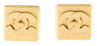 Chanel Logo Square Clip-On Earrings