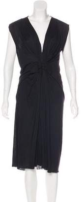 Lanvin Sleeveless Pleated Midi Dress