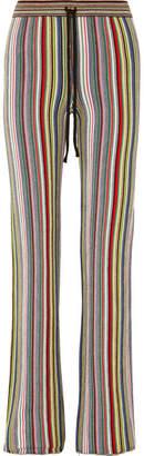 Marques Almeida Marques' Almeida Striped Crocheted Merino Wool Straight-leg Pants