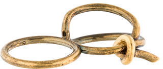 Balenciaga Balenciaga Double Asymmetric Bow Ring