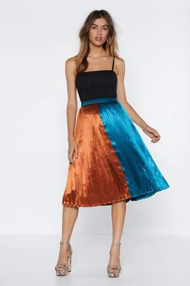 Nasty Gal Going Fifty Fifty Midi Skirt