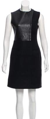 Celine Sleeveless Leather Combo Dress