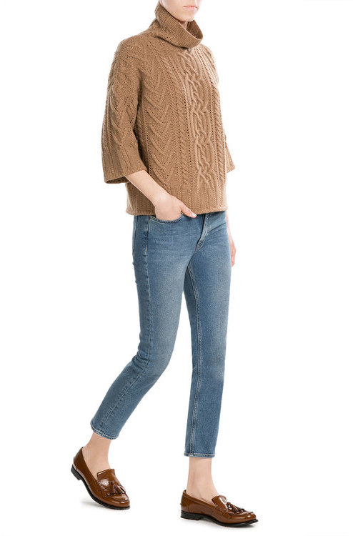 Max Mara Max Mara Virgin Wool Pullover with Cashmere