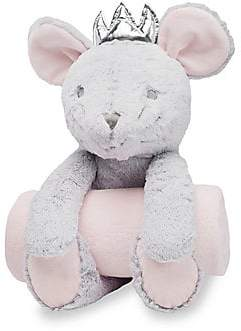 Elegant Baby Baby's Two-Piece Mousie HuggiePlush Toy& Blanket Set