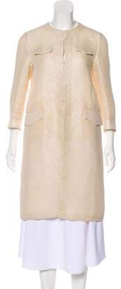 Miu Miu Quilted Knee-Length Coat