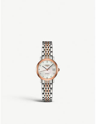 Longines Elegant L4.309.5.87.7 stainless steel, rose gold and diamond watch